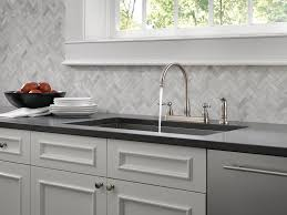 delta foundations 21996lf ss two handle kitchen faucet with spray