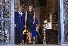 melania trump wears backless black dress for saturday night dinner