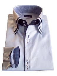 model 002 light blue twill double collar shirt vittorio marchesi