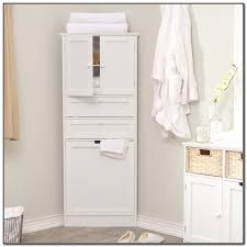 Bathroom Linen Cabinet White Glass Front Bathroom Linen Cabinet - Tall bathroom linen cabinet white