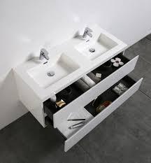 Bathroom Furniture White - bathroom furniture set alice 1200 glossy white optional mirror
