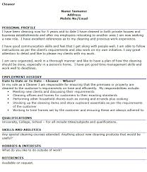 house cleaner resume sample download volunteer work resume
