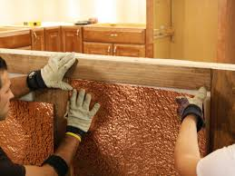 Diy Wood Panel Wall by How To Install Copper Wainscoting How Tos Diy