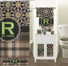 moroccan mosaic u0026 plaid bathroom accessories set personalized