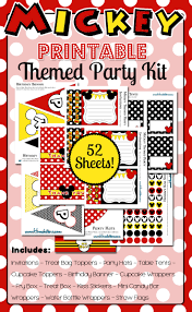 mickey mouse printable birthday invitations mickey mouse themed party printables huge kit u0026 free for 48 hours