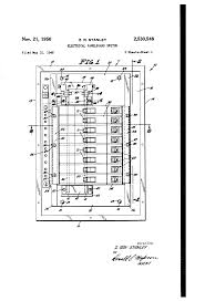 Stanley Hotel Floor Plan by Patent Us2530548 Electrical Panel Board Switch Google Patents