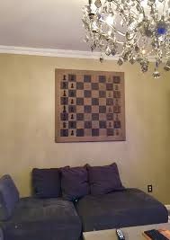 Restoration Hardware Decor 75 Lb Restoration Hardware Giant Chess Board Wall Decor Hung By