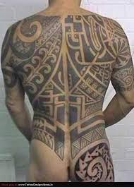 extreme maori tattoo on full back