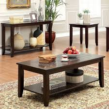 3 piece coffee table set furniture of america kalani mosaic insert 3 piece coffee end