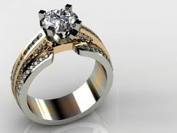 white gold engagement ring with yellow gold wedding band white gold and yellow gold diamond ring dallas shapiro