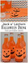 free printable halloween labels super easy jack o u0027 lantern halloween drinks the resourceful mama