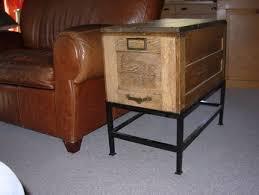 file cabinet coffee table junkmarket style