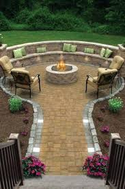round patio stone fire pit outdoor stone fire pit ideas charming decoration in