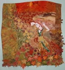 Windart Autumn Wind Art Quilt With Embroidery Advanced Embroidery Designs
