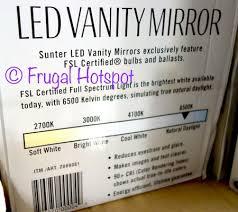 Costco Vanity Mirror With Lights Costco Sale Sunter Led Vanity Mirror 14 99 Frugal Hotspot