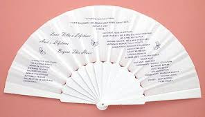 wedding program on a fan wedding fans party fans myhandfan