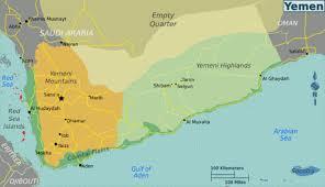 where is yemen on the map yemen wikitravel