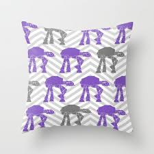 Nursery Decorative Pillows Wars At At Nursery Decorative Pillow Cover In Purple And Gray