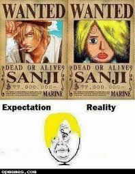 One Piece Meme - one piece meme expectation reality anime meme