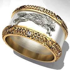 model ring the celtic wolf ornament for 3d printing 3d model 3d