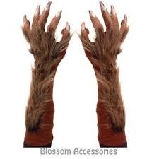 Wolf Halloween Costume A727 Wolf Werewolf Hairy Costume Arm Claws Gloves Halloween
