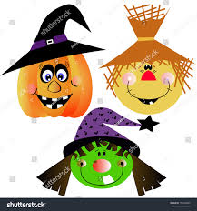 vector cartoon funny halloween pumpkin witch stock vector