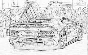 coloriage lambo2 à imprimer pour les enfants dessin voiture