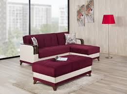 Reversible Sectional Sofa Sectional Sofa Bed Almira Golf Burgundy By Casamode