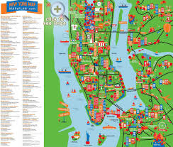 tourist map of new york sightseeing map of nyc major tourist attractions maps