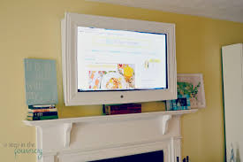 wall mounted framed tv