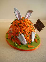 Easter Cake Decorating Ideas Pinterest by Easter Cake With Bunny Buried In Carrots Maybe For Next Year We