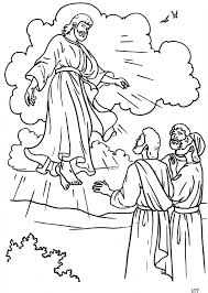 jesus ascension coloring page eson me