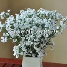 baby s breath wholesale 50pcs silk babys breath flower bouquet wedding table centerpieces