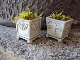 Faux Stone Planters by Buy Modern Sand Stone Set Of 2 Planters Pots To Use Outdoor Or