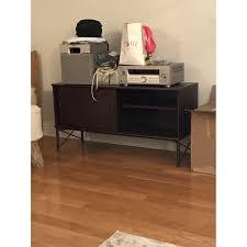 Laminate Flooring At Ikea Ikea Tockarp Dark Brown Wood U0026 Metal Media Console Aptdeco