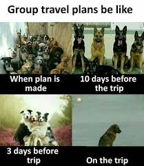 Trip Meme - dopl3r com memes group travel plans be like when plan is made 10
