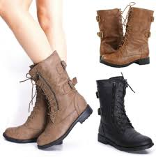 black moto boots short combat boots on women tsaa heel