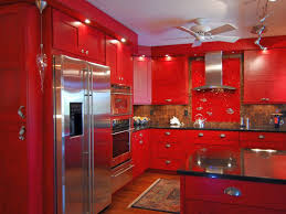 Lacquered Kitchen Cabinets Bold Red Lacquer Kitchen Cabinet For Small Kitchen Andrea Outloud