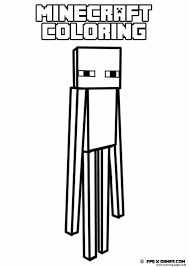 minecraft coloring kids easy coloring pages printable