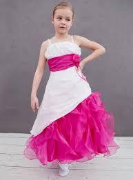 robe de fille pour mariage robe cérémonie fille robe mariage enfant fushia et écrue