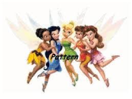 fairy tinkerbell friends cross stitch pattern pdf files