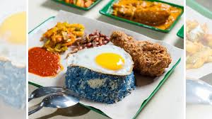 blue butterfly pea nasi lemak available in lavender is both