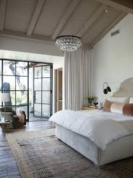 Pear Chandelier Hidden Curtain Rods Transitional Bedroom Ryan Street And