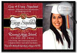 school colors 2016 graduation announcement grad invitations di
