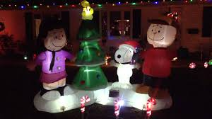 peanuts airblown inflatables gemmy peanuts lightshow