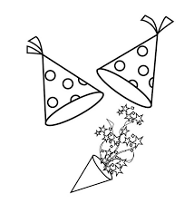 new years party blowers new years hat and blower for new years party coloring page