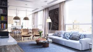 urban living room decorating ideas modern house light greys and blues combine with natural wood floors for an