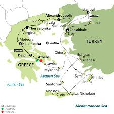 Greece Turkey Map by Highlights Of Greece U0026 Turkey With Aegean Cruise Cosmos Pavlus