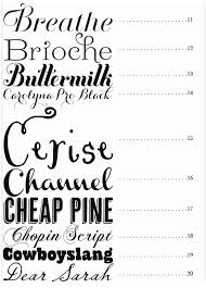 good font ideas for invitations table seating and thank you cards