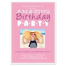 Invitation Card Picture Fun Text 5x7 Birthday Invitation Card